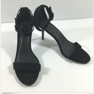 Forever 21 Black Ankle Wrap Sandals Heels 10M